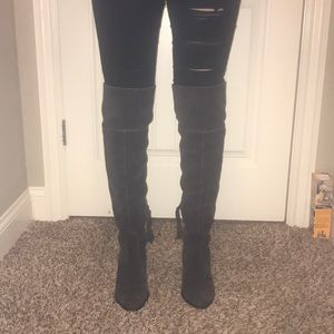 Suede dolce vita over the knee boots